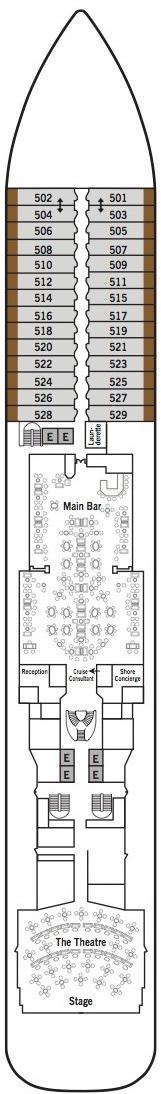 Silver Muse deck plans - Deck 5