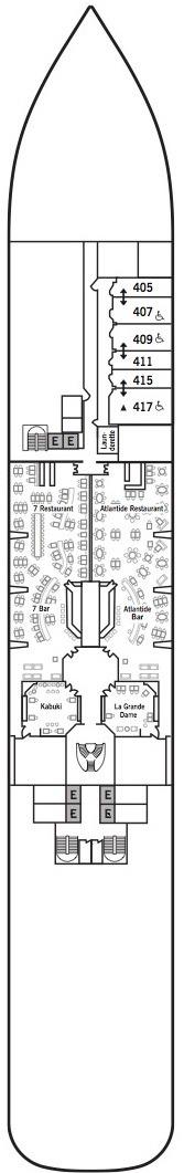 Silver Muse deck plans - Deck 4