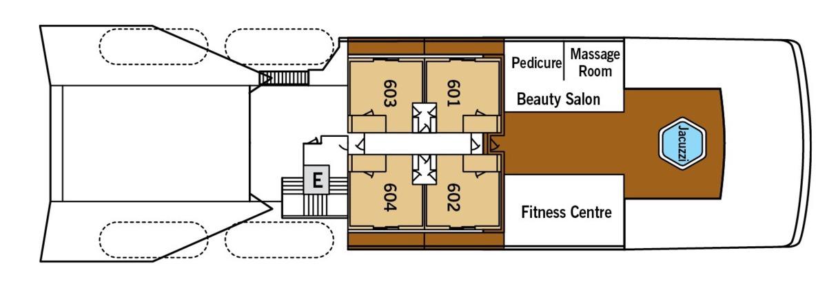 Silver Galapagos deck plans - Deck 6