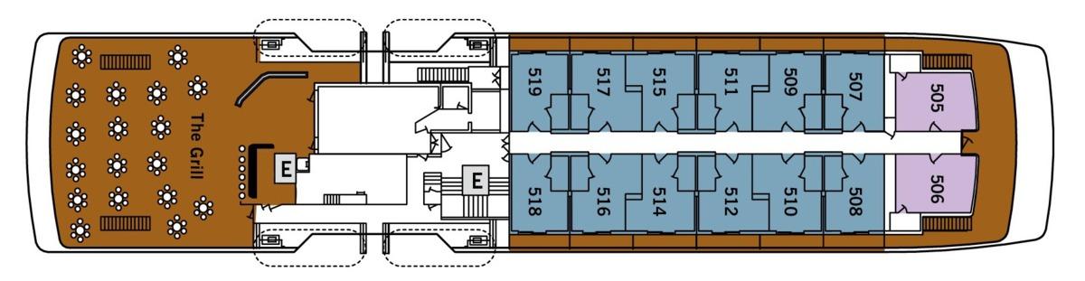 Silver Galapagos deck plans - Deck 5