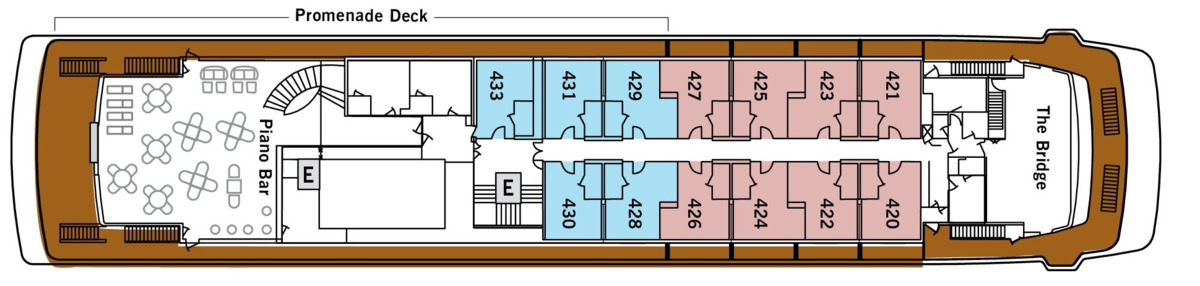 Silver Galapagos deck plans - Deck 4