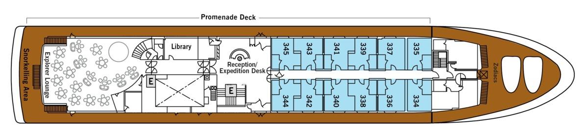 Silver Galapagos deck plans - Deck 3