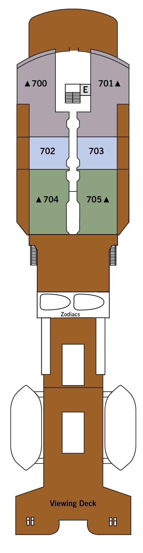 Silver Explorer deck plans - Deck 7
