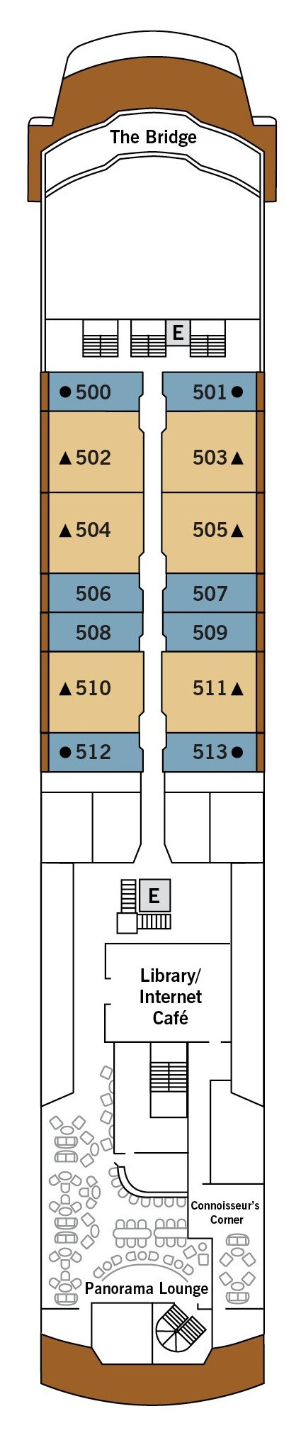 Silver Explorer deck plans - Deck 5