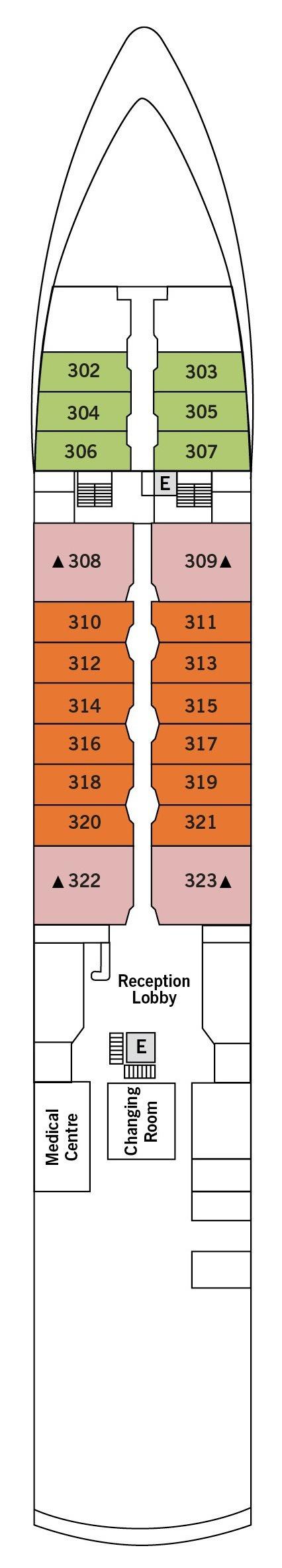 Silver Explorer deck plans - Deck 3