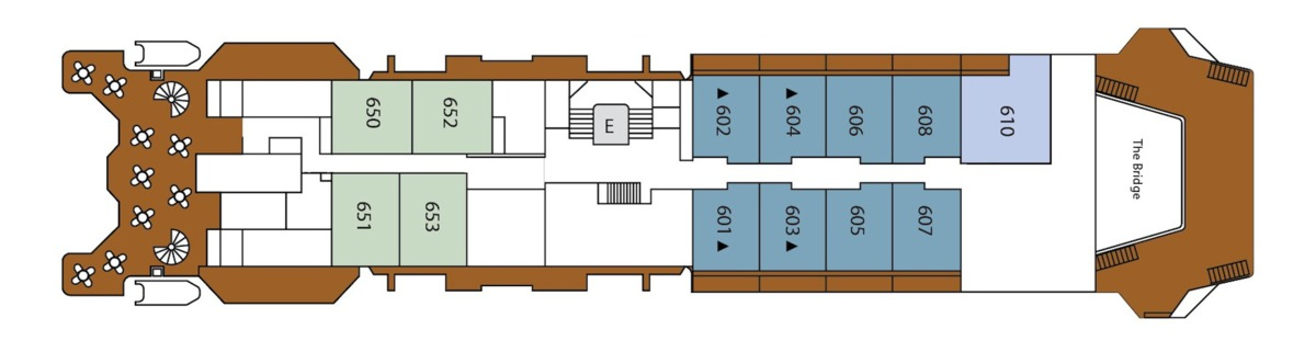Silver Discoverer deck plans - Deck 6