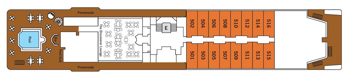 Silver Discoverer deck plans - Deck 5