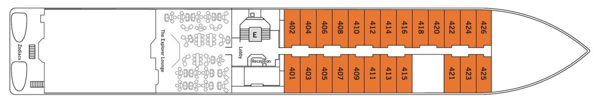 Silver Discoverer deck plans - Deck 4