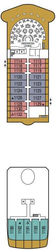 Seabourn Encore deck plans - Deck 11