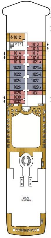 Seabourn Encore deck plans - Deck 10