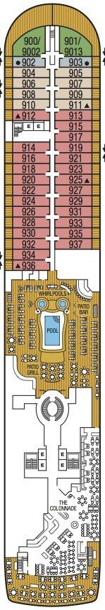 Seabourn Encore deck plans - Deck 9