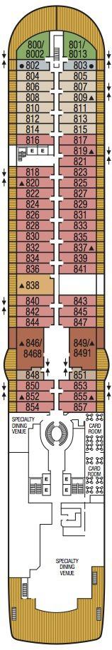 Seabourn Encore deck plans - Deck 8
