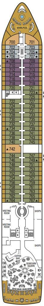 Seabourn Encore deck plans - Deck 7