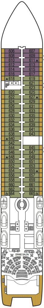 Seabourn Encore deck plans - Deck 6