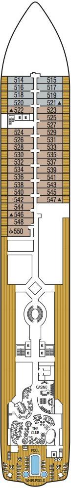 Seabourn Encore deck plans - Deck 5