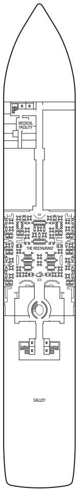 Seabourn Encore deck plans - Deck 4