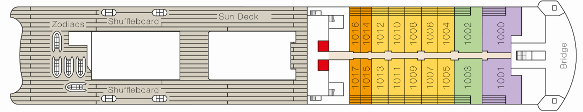 MS Europa 2 deck plans - Deck 10
