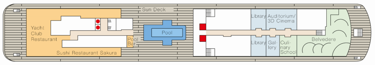 MS Europa 2 deck plans - Deck 9