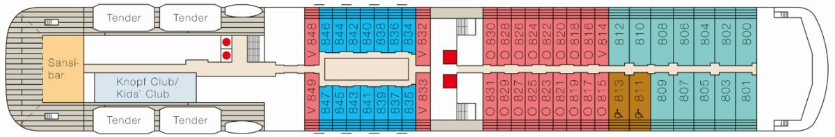 MS Europa 2 deck plans - Deck 8