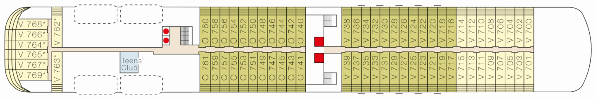 MS Europa 2 deck plans - Deck 7