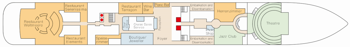 MS Europa 2 deck plans - Deck 4