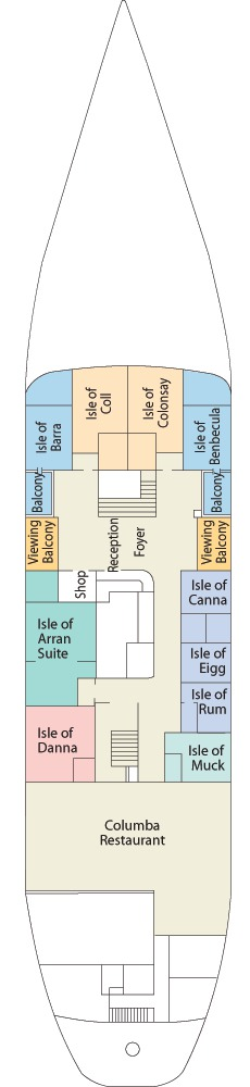 Hebridean Princess deck plans - Promenade Deck