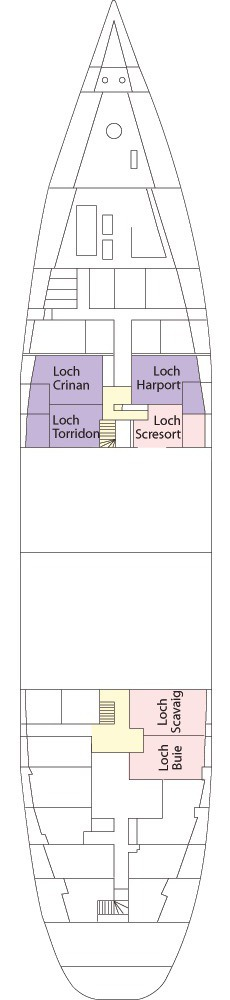 Hebridean Princess deck plans - Hebridean Deck