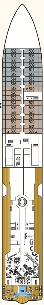 Seabourn Odyssey, Sojourn & Quest deck plans - Deck 5