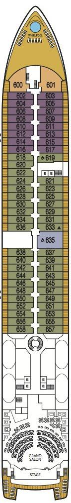 Seabourn Odyssey, Sojourn & Quest deck plans - Deck 6