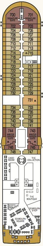 Seabourn Odyssey, Sojourn & Quest deck plans - Deck 7