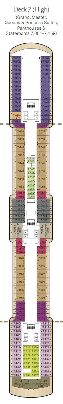 Queen Victoria deck plans - Deck 7