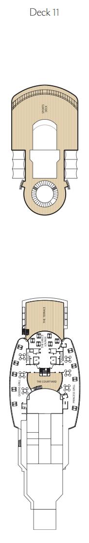Queen Victoria deck plans - Deck 11