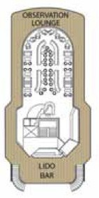 Voyages to Antiquity Aegean Odyssey deck plans - Observation Deck