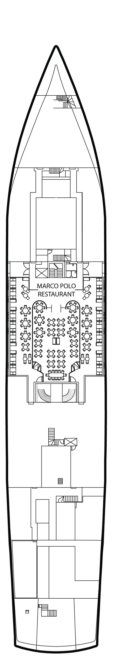 Voyages to Antiquity Aegean Odyssey deck plans - Marco Polo Deck