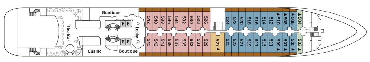 Silver Wind deck plans - Deck 5