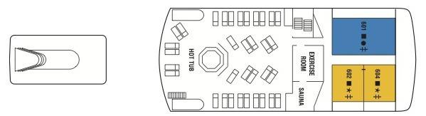 Celebrity Xpedition deck plans - Sunrise Deck