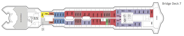 Fred. Olsen - Braemar deck plans: Bridge Deck 7