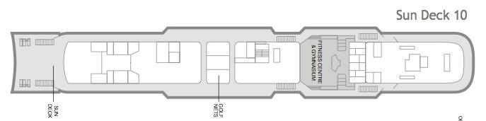 Fred. Olsen - Boudicca deck plans: Sun Deck 10