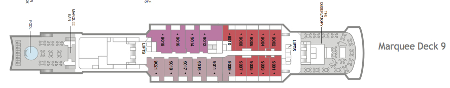 Fred. Olsen - Boudicca deck plans: Marquee Deck 9