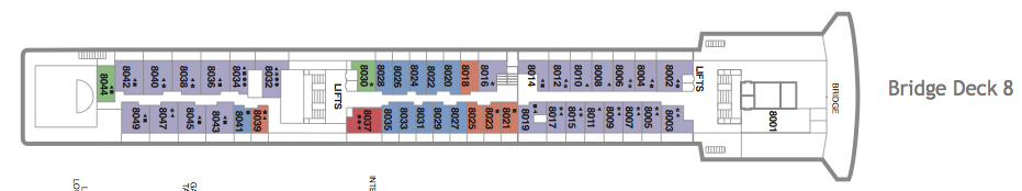 Fred. Olsen - Boudicca deck plans: Bridge Deck 8