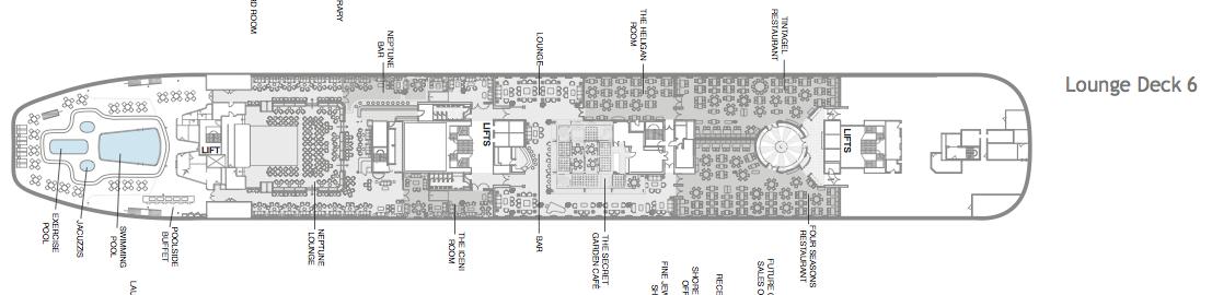 Fred. Olsen - Boudicca deck plans: Lounge Deck 6
