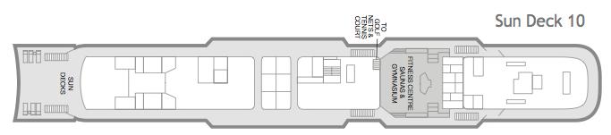 Fred. Olsen - Black Watch deck plans: Sun Deck 10