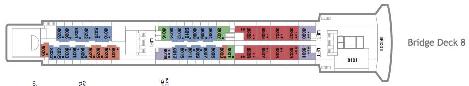 Fred. Olsen - Black Watch deck plans: Bridge Deck 8