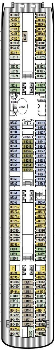 Holland America Line - MS Amsterdam deck plans - Deck 3 (Lower Promenade Deck)