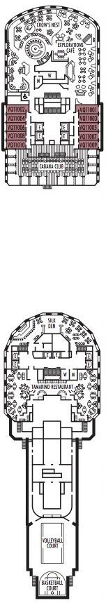 Holland America Line - MS Nieuw Amsterdam deck plans - Deck 11