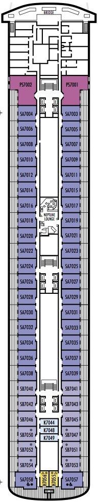 Holland America Line - MS Rotterdam deck plans - Deck 7 (Navigation Deck)