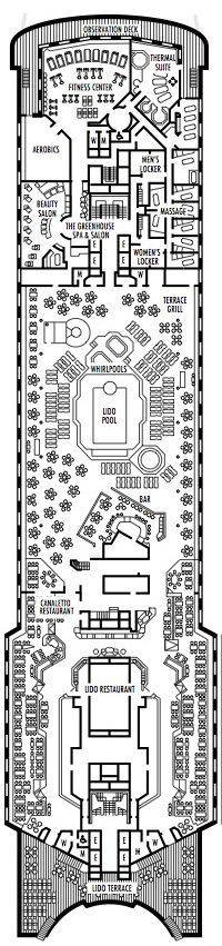Holland America Line - MS Veendam deck plans - Deck 11 (Lido Deck)