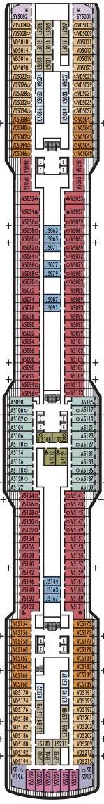 Holland America Line - MS Koningsdam deck plans - Deck 5