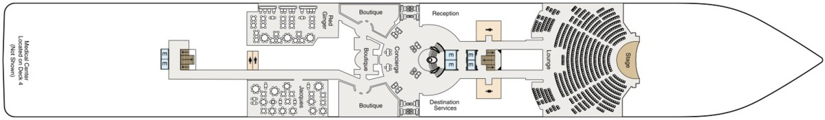 Oceania Cruises O-Class deck plans - Deck 5