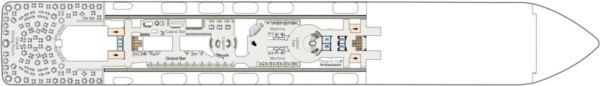 Oceania Cruises O-Class deck plans - Deck 6